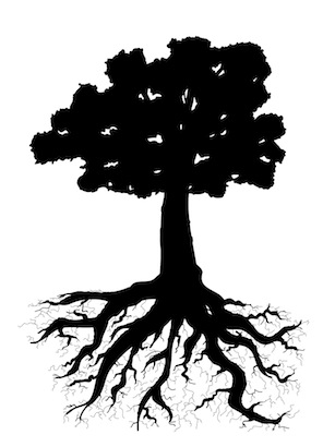 Small Group Tree Silhouette Small